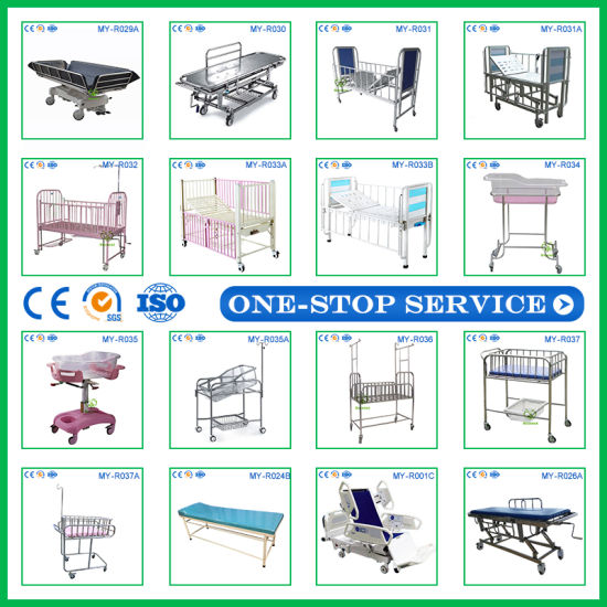 High Quality Adjustable Electric Hospital Examination Bed Medical Folding Patient Bed pictures & photos