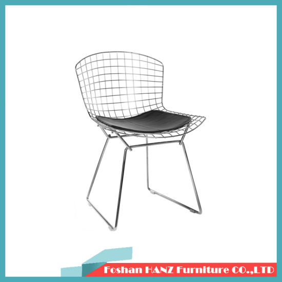 China Japanese Style Tie Chair Back Iron Dining Chair Makeup Chair China Bertoia Metal Chair