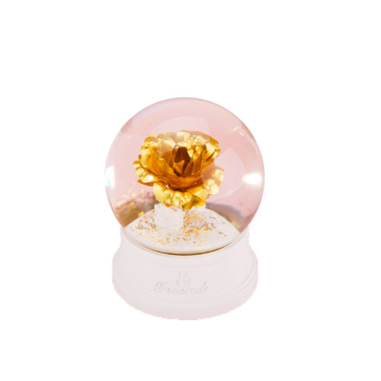 Wedding Favor Water Globes Resin Glass Snow Water Ball Golden Rose Water Globe pictures & photos