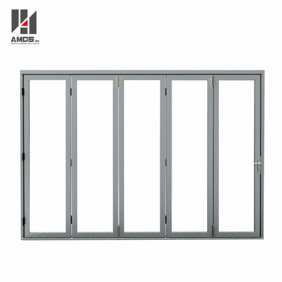 High Quality Customized Aluminum Folding Door with Double Glazing pictures & photos