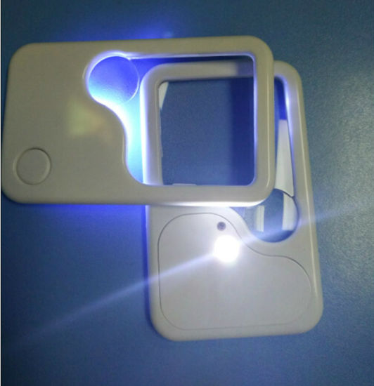 Pocket Reading Card LED Lighted Magnifying Credit Card Magnifier Hw-212PA pictures & photos