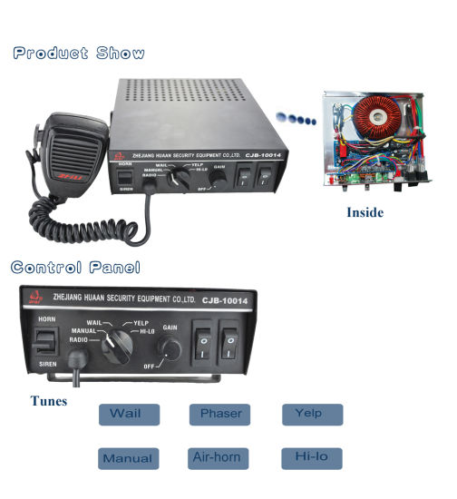 100W Police Ambulance Siren for Emergency Vehicles pictures & photos