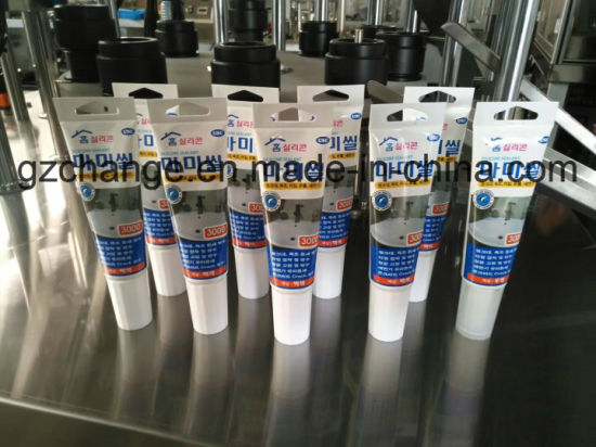 Cosmtics Cream Euro Hole Tubes Filling Sealing Machine