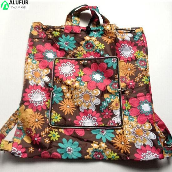 Adjustable Shoulder Strap and Full Printed Drawstring Closure Bag