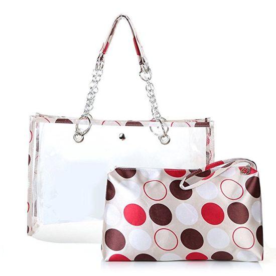 3cd8df5051 Summer Clear Handbags Beach Bags Transparent PVC Ladies Handbags Designer  Handbag Popular Lady Handbag (WDL01117)