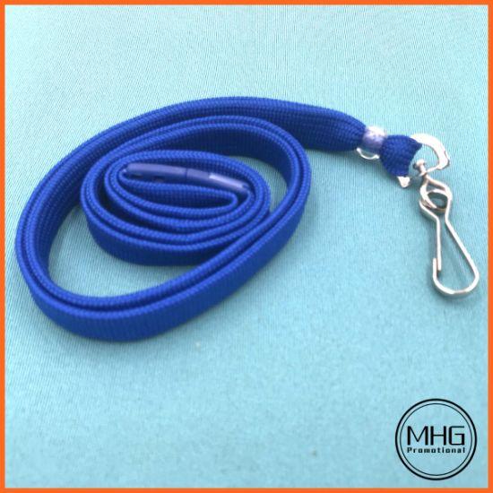 "Royal Blue 3/8"" Lanyard with Breakaway and Swivel Hook"