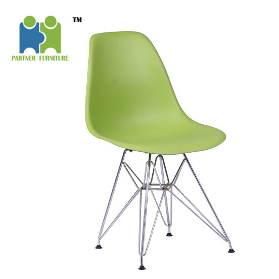 PP Seat With Chromed Steel Base Modern Fashion Design Dining Room Chair