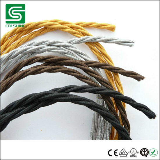 Vintage Style Fabric Wire Cable Electrical Wire Textile Cable Wire