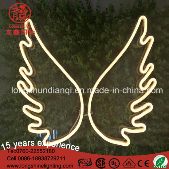 LED Wings Neon Acrylic Wall Decoration Christmas Light pictures & photos