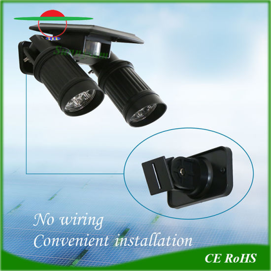Adjustable Outdoor Solar LED Lights Wall Lamp Motion Sensor Spotlight pictures & photos