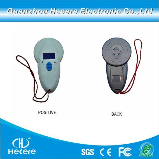 Handheld Animal Microchip Scanner RFID Reader Hdx Fdx with 125kHz/134.2kHz