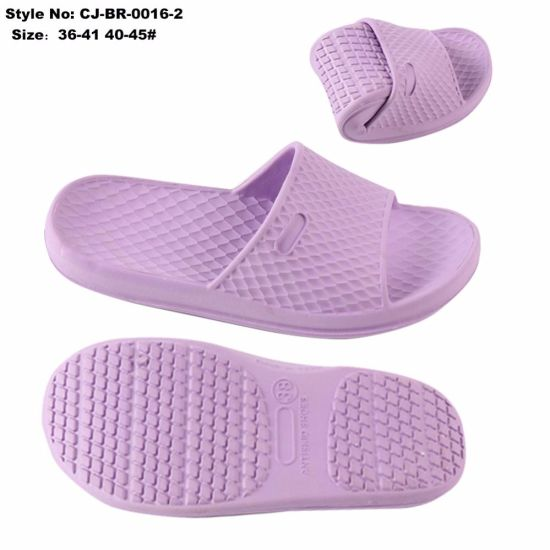 678bb950f87a0 China Bathroom Use EVA Slip on Shoes with Anti-Slip Slippers - China ...