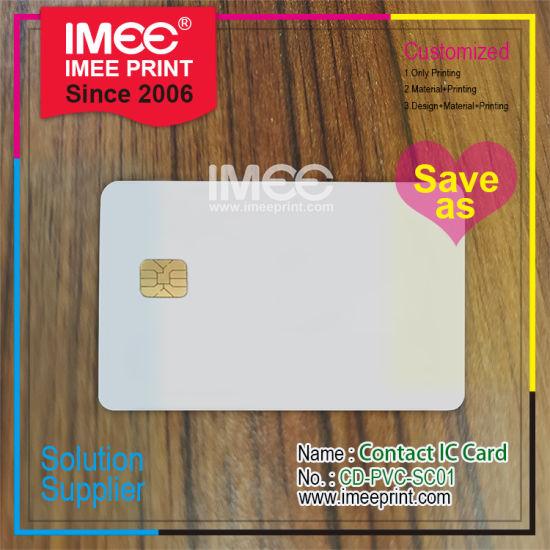 Imee Wholesale Custom Design Printed Metal Plastic PVC Chip USB VIP Member Embossing Magnetic Scratch Micro Mini Inlay RFID Smart SIM Phone Contact IC Card