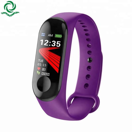 Less Than $5/PCS Company Christmas Gift 2018 New Products M3 Smart Bracelet Heart Rate Monitor Fitness Watch Factor