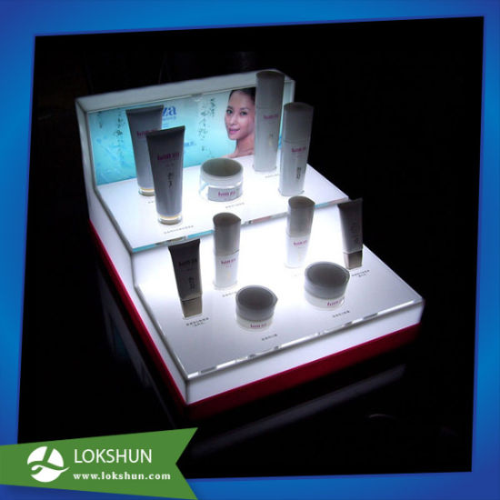 Custom Acrylic Cosmetics Display, Plexi L-Shape Make-up Display pictures & photos
