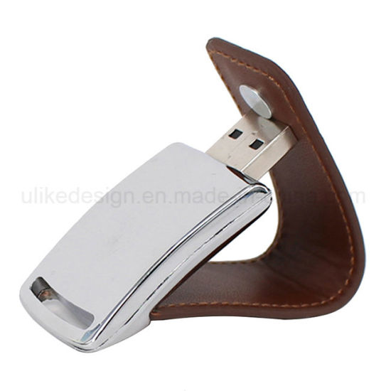 Leather Style USB Flash Drive pictures & photos