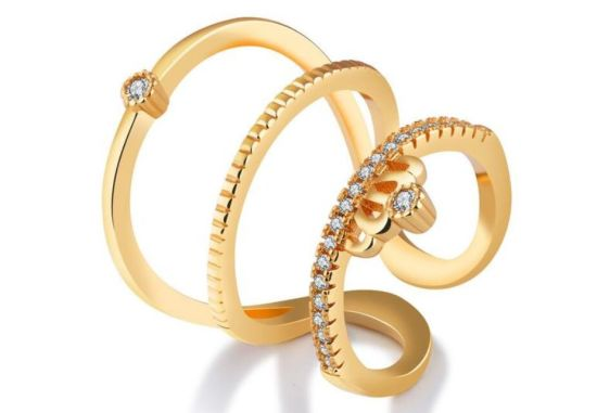 China Simple Rings For Women Valentine Present Fashion Cz Crystal