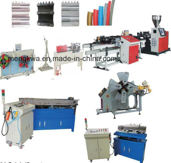 PP PA PVC EVA Single Wall Corrugated Pipe Extrusion Machine
