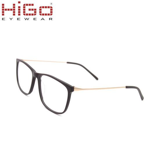 Fashion Rectangle Frames Acetate Optical Frame for Men
