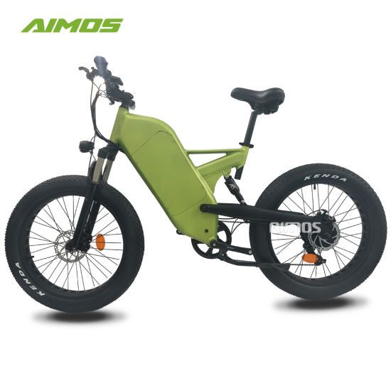 26*4.0 Fat Tire Double Suspension Ebike with Hidden Battery