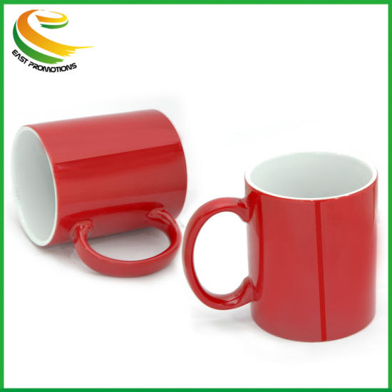 21oz Embossed Promotion Ceramic Mugs for Customed Logo in Coffee Cup