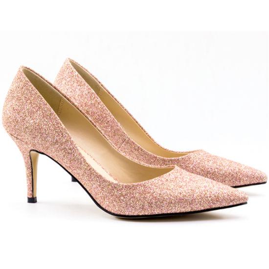 Women Party Shoes Women Heels Sexy Medium Heels for Ladies