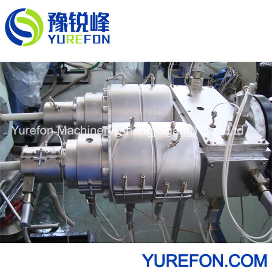 Plastic PVC Double Electric Wire Pipe Electrical Conduit Extrusion Production Line pictures & photos