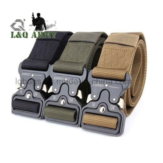 Men Military Nylon Buckle Waistband Belt Solid