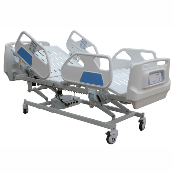 Luxury Hospital ICU Electric Bed with ABS Guardrails