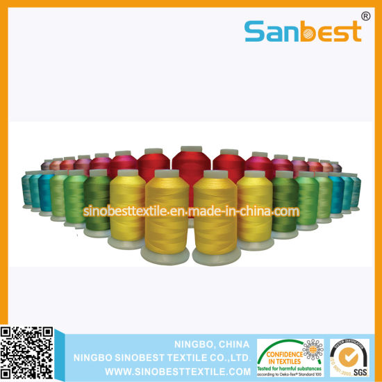 100% High Quality Polyester Embroidery Thread for Embroidery
