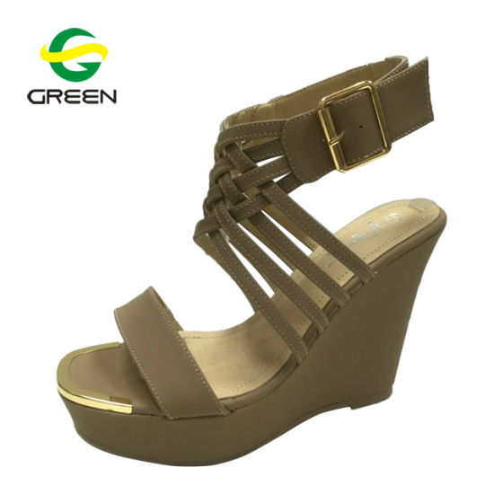 ce58b8c09 Patent Leather Platform Sandals Latest Women Wedge Sandals High Wedge Heel  Lady Shoes pictures   photos