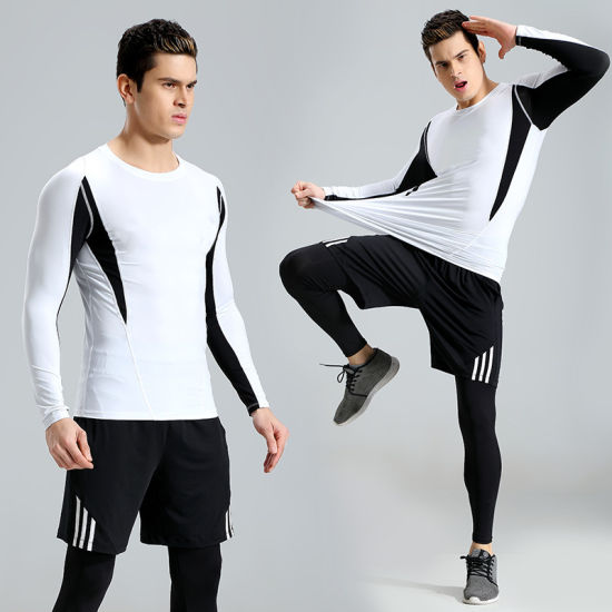 Three Piece Suits Training Workout Clothes Sportswear Gym Wear Mens Fitness Tracksuits