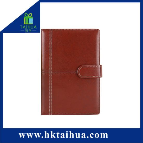 Classic Diary Notebook Custom Logo PU Leather Hardcover with Magnetic Button