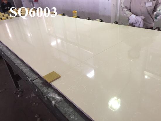 China Carrara White Marble Quartz Countertop Solid Surface China
