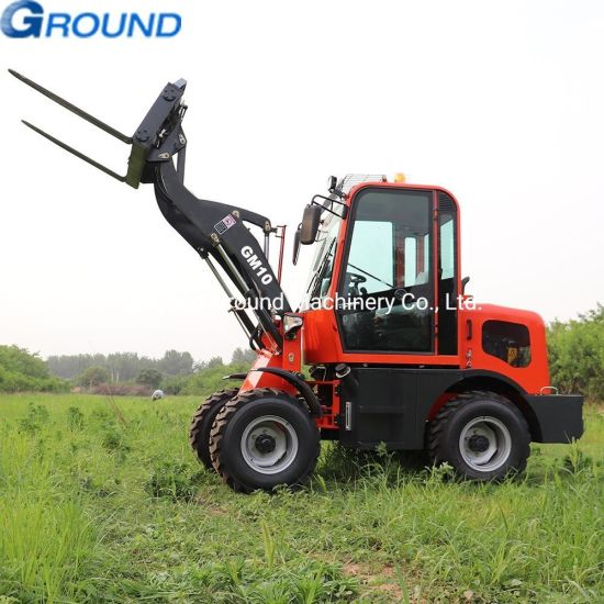Red Color 1ton small avant articulated tractor garden landscaping wheel mini loader