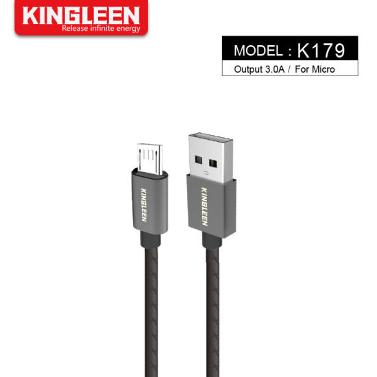 High Speed Micro 20cm USB Cable Fast Charging Syncing Nylon Braided Android Charger Cable for Mobile Phone Short