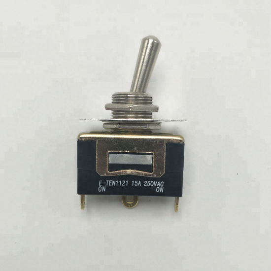 E-Ten1121 15A 250VAC on-on 2p 2 Pin Terminals Medium Toggle Switch