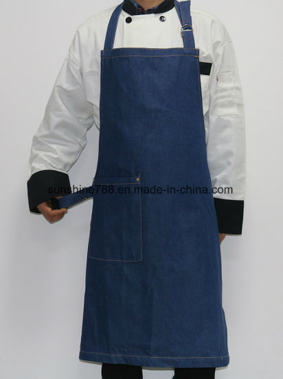 Jean Bar Restaurant Kitchen Coffee House Bib Apron pictures & photos