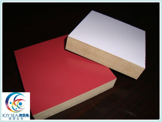 Melamine MDF Melamine Laminated Medium Fiberboard with Film pictures & photos
