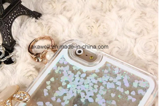 China Wholesale Mobile Phone Accessory Liquid Star Sand Quicksand Case for iPhone 5/6 Cell Phone Cover Case pictures & photos