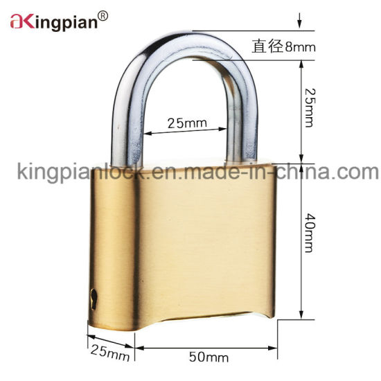 50mm 4 Digital Brass Combination Code Resettable Padlock pictures & photos