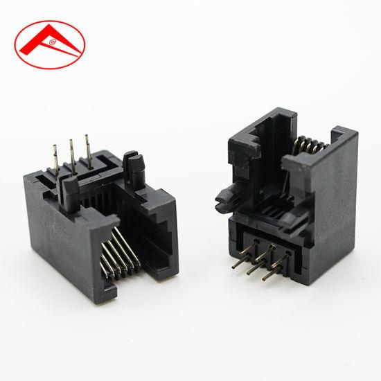 100 pcs RJ11 Modular Plug Telephone 4P4C Connector FU