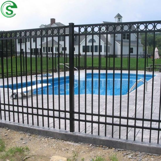 Free to Customize Durable Square Bar Swimming Pool Fence Iron Fence Design