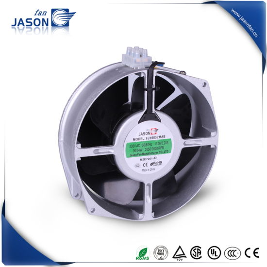 170*150*55mm Metal Impeller Circle Frame AC Industrial Cooling Fan (FJ16052MABD)