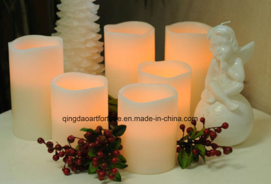 Hot Sale Flameless LED Wax Candle for Home Decor pictures & photos