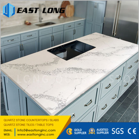 China Quartz Stone Countertops Manufacturer for Kitchen Work Top with SGS/Ce Certificated