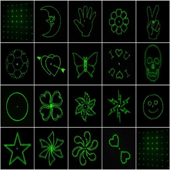 Customized Twenty 20 Patterns for Stage Lighting Laser Grating Lens