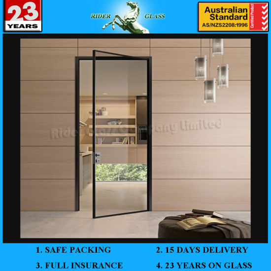 China 12mm Modern Unbreakable Glass Doors Tinted Tempered Glass
