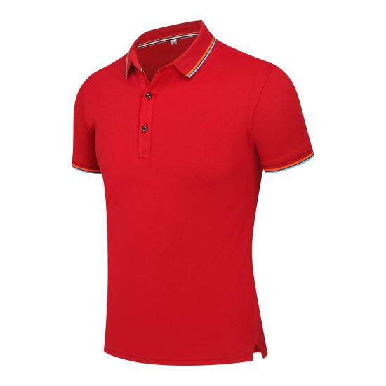 Collar Solid Color Slim Fit Short Sleeve Fashion Polo Shirt