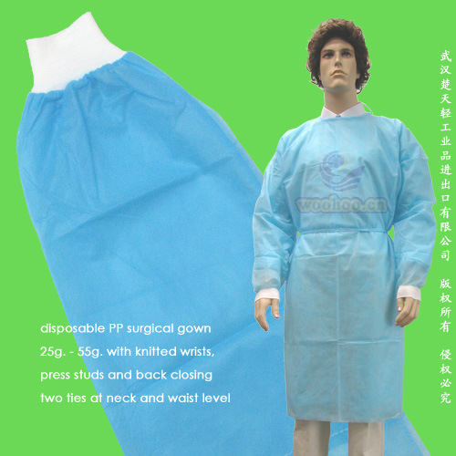 Disposable Nonwoven Surgical Gown, Disposable Non-Woven Isolation Gown